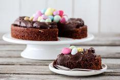 BROWNIE MED APPELSIN OG PÅSKEEGG | TRINES MATBLOGG Brownies, Vegetarian, Vegan, Cookies, Baking, Cake, Holiday, Desserts, Recipes