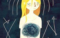 A veces el ovillo de la vida se instala ahí, en nuestro estómago, como un agujero negro guiado por la ansiedad quitándonos el aire, el hambre y las ganas