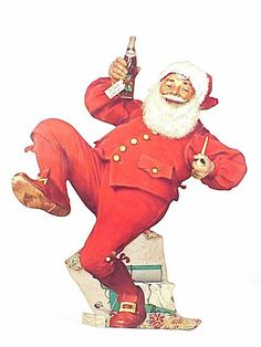 Norman Rockwell painted Santa for Pepsi. As good as Rockwell was, the campaign wasn't as successful as Coke Santas. Christmas Scenes, Noel Christmas, Father Christmas, Vintage Christmas, Xmas, Norman Rockwell Prints, Norman Rockwell Paintings, Caricatures, Norman Rockwell Christmas