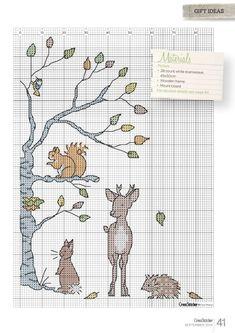 Free Animal Tales cross stirch chart pg 2 #stitching #animals
