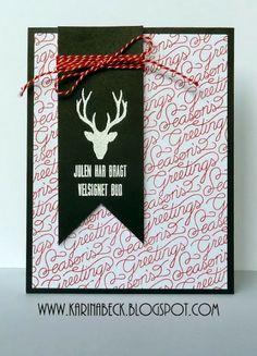 Karinas Scrap: Julekort # Julen har bragt velsignet bud.