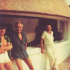 From left, the filmmaker Andrei Tarkovsky, Antonioni and the screenwriter Tonino Guerra outside La Cupola in 1982. Credit Courtesy of Whitespacegallery.co.uk © Andrey Tarkovsky Archive, Florence, Italy