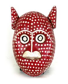 "African Mask from Bozo people - "" red leopard mask """