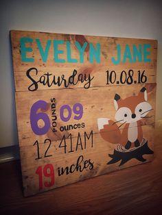 Affinity interior design,  custom diy pallet wood signs for baby nursery