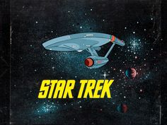 'Star Trek' Production Title Cel Setup and Master Background (1973)  This title cel is from the animated continuation of the live-action 'St...