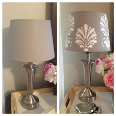 9 99 ikea lamp shade hack, crafts, home decor, lighting, Before and After
