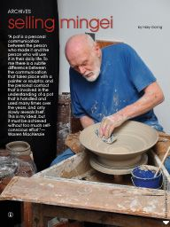 """I saw this in """"Selling Mingei"""" in Ceramics Monthly March 2014."""