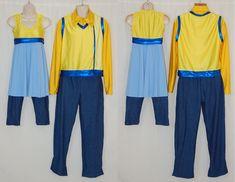 22 uniforms, female: 3XS/6S/4M/3L/4XL/1XXL, male: 1L, lycra/poly
