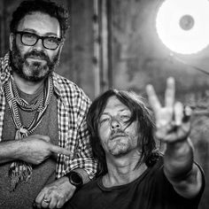 Had a blast with this guy #normanreedus on set in the Atlanta = @markmannphoto #thewalkingdead #twd #thewalkingdeadseason7 #twdfamily #twdfinale #amc #walkingdead #rickgrimes #andrewlincoln #norman #normanreedus #daryl #dixon #michonne #chandler #chandlerriggs #carl #carlgrimes #carol #negan #lucille #maggie #glenn #love