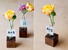 DIY Bud Vase Wedding Favor