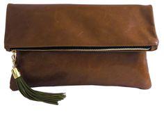 Perfect Fall bag - Lulu Foldover in Cognac