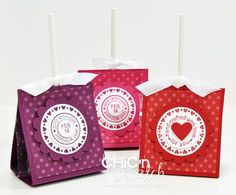 Valentine lollipop holder