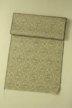 Rose gray tanmono cloth / ローズグレイ地 蜀江文絣柄 紬着尺地反物   #Kimono #Japan http://global.rakuten.com/en/store/aiyama/
