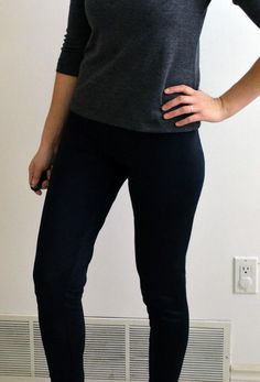 Sewing Tutorial: How to make the Easy Leggings - On the Cutting Floor: Printable pdf sewing patterns and tutorials for women Sewing Patterns Free, Free Sewing, Clothing Patterns, Sewing Tutorials, Free Pattern, Sewing Projects, Sewing Ideas, Stitching Patterns, Crocheting Patterns