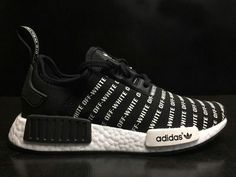 new concept 397ce 728c3 2018 Purchase Fashion Popular OFF White x Adidas NMD R1 Black White BA6520  Shoe Popular Sneakers