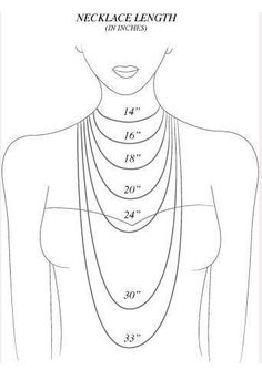 This is a great tool for identifying necklace length. A great tool for when buying your jewellery online!   Necklaces length. Good to know!- Great for helping DIY jewelry making.-