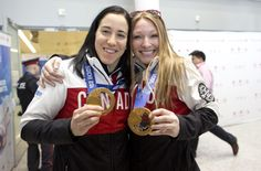 26c986c259e Caroline Ouellette (Canadian Women s Hockey Captain) and Heather Moyse (Olympic  gold medalist in bobsleigh) heading back to Canada after a successful ...