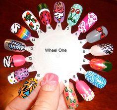 Custom painted fake nails