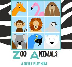 2015 - Quiet Play: Zoo Animals - A Paper Piecing BoM