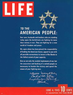 1945 vintage Life magazine patriotic cover