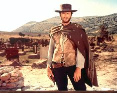 Clint Eastwood became a Western icon when he made his 'spaghetti westerns' during the 60's.  The poncho that he wore in three of these movies, was apparently never washed during production. :)