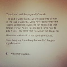 This is how Apple welcomes their new hires.