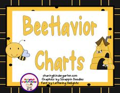 "I had a request to make my Monkey Behavioral Chart into a bee theme… so I did it. I think these ""bee""havior charts are super cute and perfect for any and every bee themed classroo…"