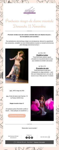 Prochains stages de danse orientale  Dimanche 11 Novembre