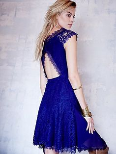 Free People All Dolled Up Lace Dress