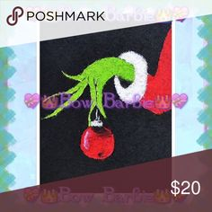 """How the Grinch Stole Christmas Ornament Print  How the Grinch Stole Christmas Sneaky Ornament Canvas Painted Wall Art Print  Print of the Grinch & Christmas Ornament  Perfect for the Holidays!  Custom art print created by me! Purchase & receive a HIGH QUALITY 8"""" X 11 {Letter} SIZE~art print of my creation!☺️  Print is unframed~ Frame= $10 each❤️  Perfect for wall decor, bathrooms, closets, next to your vanity, table tops, or even to spruce up your office at work!  MAKE FAIR OFFERS {Borders…"""