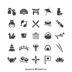 have icons/badges inspired by japanese icons/woodblocks Chinese Icon, Japan Facts, Japan Icon, Icon Design, Logo Design, Zentangle, Japanese Symbol, Japanese Style, Japan Logo
