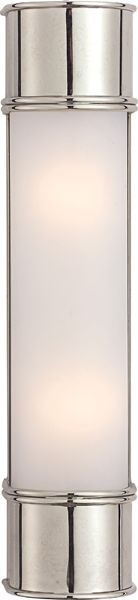 Master Bath -- Oxford Tall Linear Wall Light - CHD1552, circa lighting, can be hung horizontally or vertically, 4 finishes