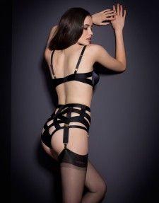Whitney Suspender Black Classic Lingerie 29ed0e029