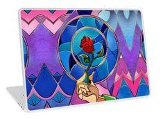 The Flower of love Laptop Skins #laptop #skin #case #Graphicdesign #Digital #Watercolor #Popart #Rose #Flower #Valentine #Love #Plant #Monstera #BeautyBeast #Pattern #Dreamscene #Banksy #Stainedglass #Glass #Decoration #Paintings