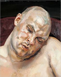 """Lucian Freud's portrait of Leigh Bowery 1990 (Lucian had a """"body as landscape"""" style seen so well here)"""