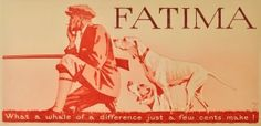 Fatima Cigarettes - original vintage poster by Hohlwein listed on AntikBar.co.uk
