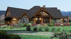 Craftsman Tuscan House Plan 65862