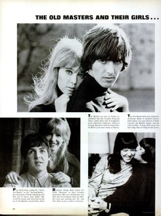 "hideelee: "" Life - May 1965 The Beatles and family "" Beatles Love, Beatles Photos, 50 And Fabulous, The Fab Four, Jane Asher, All Souls, Kissing Him, Wife And Girlfriend, Ringo Starr"
