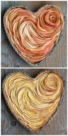 French Desserts & Pastries Recipes Valentine's Apple Rose Tart Article Physique: There isn't any dou Apple Desserts, No Bake Desserts, Just Desserts, Delicious Desserts, Dessert Recipes, Yummy Food, Baking Desserts, Tart Recipes, Apple Recipes
