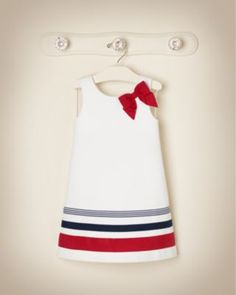 Janie jack fourth of july 5 6 13 Dresses Kids Girl, Little Girl Dresses, Kids Outfits, Sewing For Kids, Baby Sewing, Toddler Dress, Toddler Girl, Infant Girls, Baby Girl Fashion