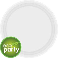 Eco Friendly White Paper Lunch Plates 24ct - $4.49