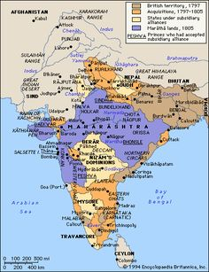 the first british expansion across india from 1797 until during the napoleonic wars