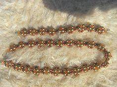 Náhrdelník+náramok Beaded Bracelets, Gold, Jewelry, Fashion, Jewellery Making, Moda, Jewerly, Jewelery, Fashion Styles