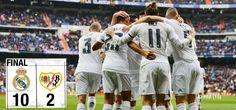 Real Madrid 10-2 Rayo Vallecano. Domingo 20 de diciembre de 2015.