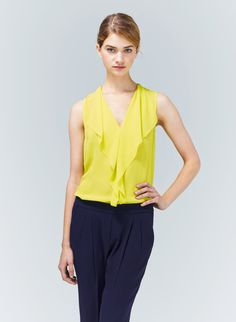 T. BABATON AINSLEY BLOUSE - Beautiful silk georgette finished with feminine flounces