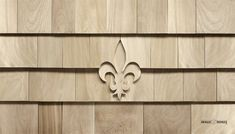 The Fleur de Lis design looks great as a stand alone accent next to doors and windows or used in multiples to create geometric patterns. Shingle Style Architecture, Shingle Style Homes, Cedar Shingle Siding, Cedar Shingles, Rustic Houses Exterior, House Paint Exterior, Cabin Design, House Design, Siding Options