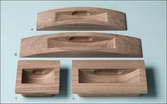 Wood Recessed Pulls by ForgeHardwareStudio on Etsy Wooden Handles, Door Handles, Wardrobe Handles, Wardrobe Doors, Wood Slice Crafts, Joinery Details, Cabinet And Drawer Pulls, Wood Carving Designs, Small Wood Projects
