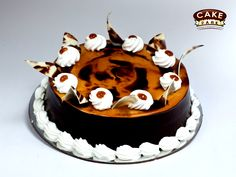Dark Chocolate black forest Exotic cakes with chocolate topping ‪#‎Exoticcakes‬ ‪#‎Photocakes‬ ‪#‎Freshcreamcakes‬ ‪#‎Birthdaycakes‬ visit us: www.cakepark.net Call us: 044-45535532
