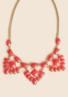Elysian Bib Necklace In Coral at #Ruche @Ruche