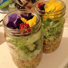 Eating salad can be a delicious way to stay healthy. Mason jar salads are pretty, portable, and easy to create. They will stay crisp and appealing for days after preparation if you apply the simple principles